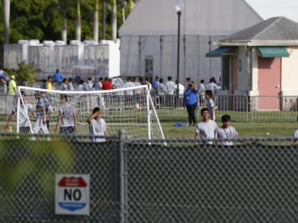 Unaccompanied minors in HHS shelter. (AP File Photo: Wilfredo Lee)