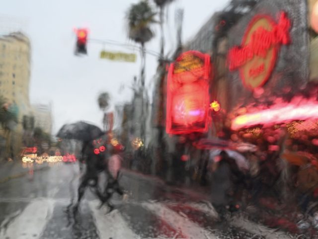 Hollywood in storm (Robyn Beck / AFP / Getty)