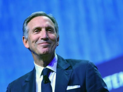 Starbucks' Executive Chairman, Howard Schultz delivers a speech during the openning ceremony of the 'Seeds & Chips, the Global Food Innovation Summit' in Milan on May 7, 2018.