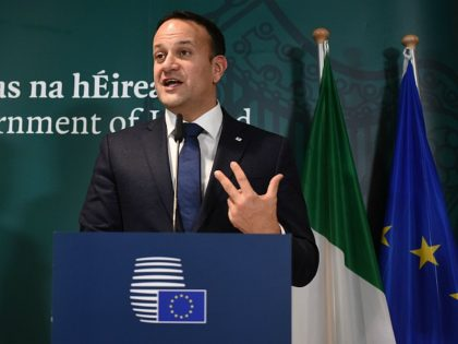 Ireland's Prime Minister Leo Varadkar holds a press conference after the European Council on December 14, 2018, in Brussels. (Photo by JOHN THYS / AFP) (Photo credit should read JOHN THYS/AFP/Getty Images)