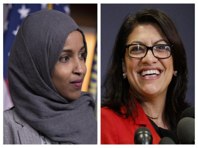 Ilhan Omar and Rashida Tlaib (Carolyn Kaster / Associated Press)
