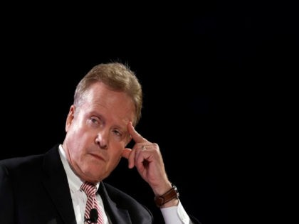 Former Sen. Jim Webb, D-Va., speaks at the National Sheriffs' Association presidential forum, Tuesday, June 30, 2015, in Baltimore. (AP Photo/Patrick Semansky)
