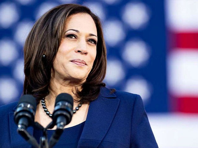 California Senator Kamala Harris speaks during a rally launching her presidential campaign on January 27, 2019 in Oakland, California. (Photo by NOAH BERGER / AFP) (Photo credit should read NOAH BERGER/AFP/Getty Images)