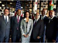 Kamala Harris with Team