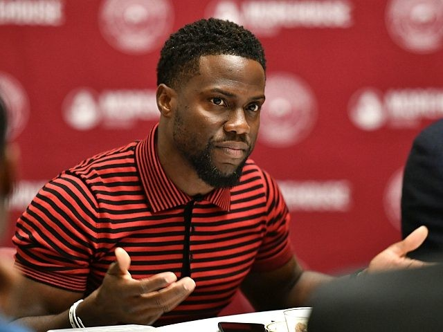 ATLANTA, GA - SEPTEMBER 11: Kevin Hart speaks during during the 'Night School' Atlanta University Center press junket at Morehouse College on September 11, 2018 in Atlanta, Georgia. (Photo by Paras Griffin/Getty Images for Universal Pictures)