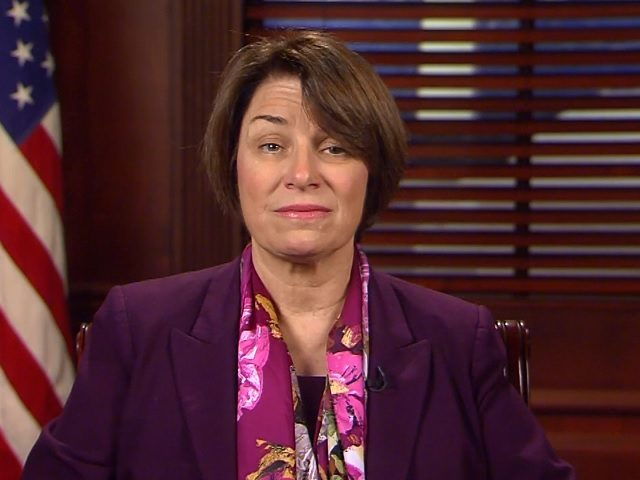 Amy Klobuchar Looked Like A Snowman Today