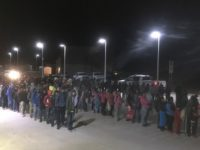 Large Group of Migrants Crossing New Mexico Border