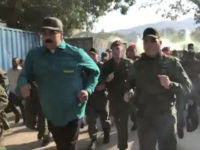 Nicolás Maduro appeared in military fatigues in various videos posted on his Twitter account. In one video, Maduro appears jogging for 17 seconds surrounded by soldiers as loud leftist propaganda music plays in the background.