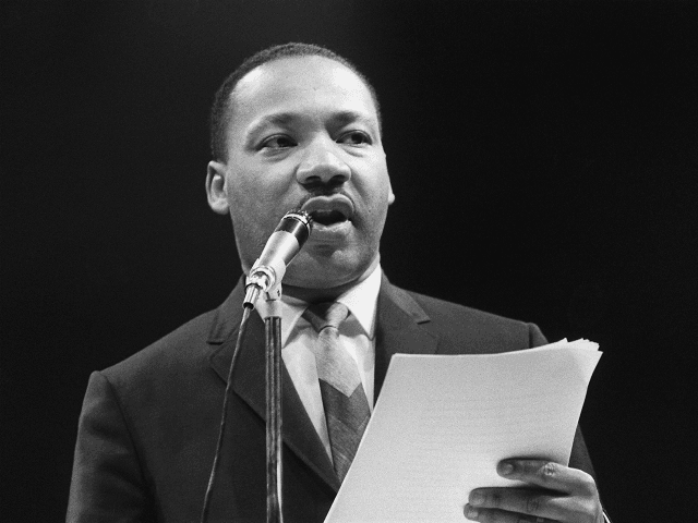 The US clergyman and civil rights leader Martin Luther King addresses, 29 March 1966 in Paris' Sport Palace the militants of the 'Movement for the Peace'. 'Martin Luther King was assassinated on 04 April 1968 in Memphis, Tennessee. James Earl Ray confessed to shooting King and was sentenced to 99 …