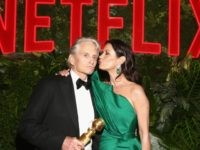 Michael Douglas and Catherine Zeta-Jones at the Netflix Golden Globes party
