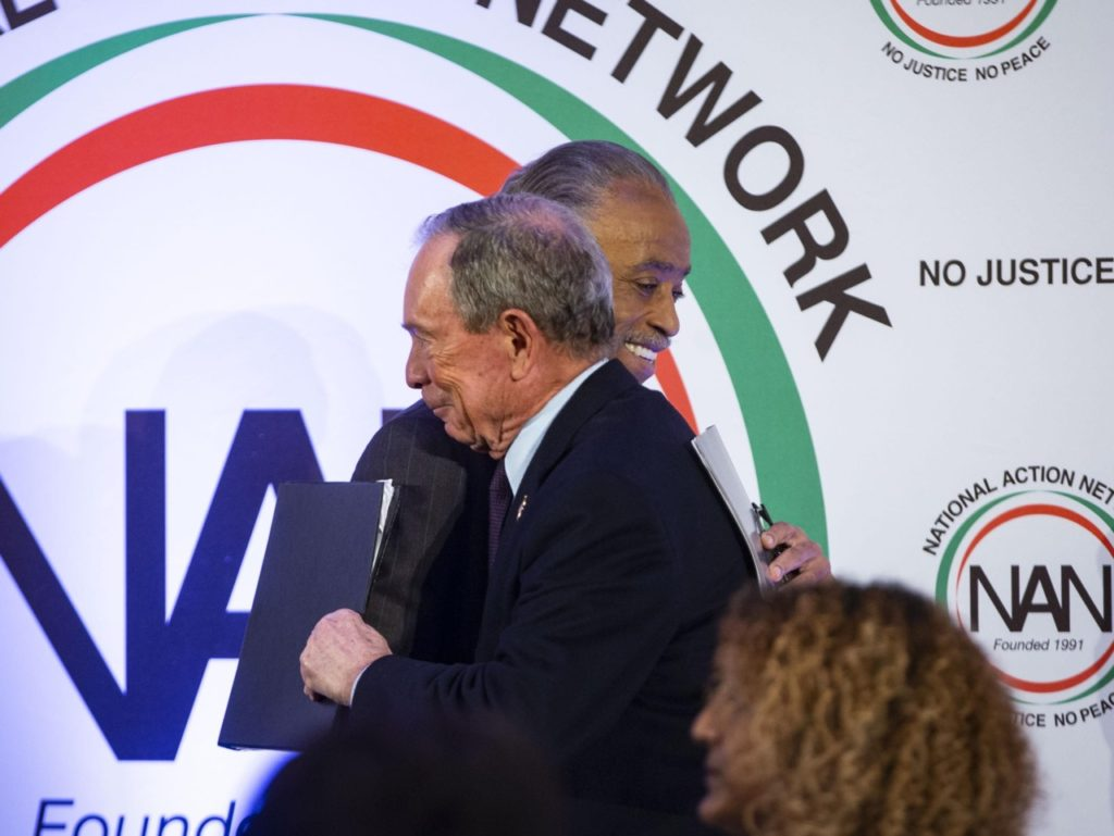 Mike Bloomberg and Al Sharpton (Al Drago / Getty)
