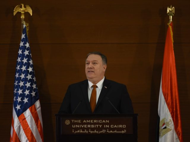 Mike Pompeo in Cairo (Andrew Caballero-Reynolds / Getty)