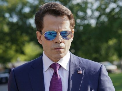 FILE - In this July 25, 2017, file photo, White House communications director Anthony Scaramucci walks back to the West Wing of the White House in Washington. Scaramucci claimed in a tweet on Aug. 9, 2017, the profanity-laced phone call that preceded his ouster from the White House was recorded …