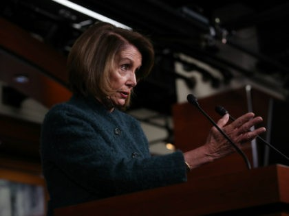 U.S. Speaker of the House Nancy Pelosi (D-CA) answers questions during her weekly press conference January 10, 2019 in Washington, DC. Pelosi answered a range of questions related primarily to the partial government shutdown that is now 20 days long.. (Photo by Win McNamee/Getty Images)