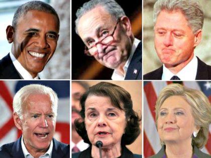 Obama, Schumer, Clinton, Clinton, Feinstein, Biden