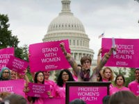 Rep. Rosa DeLauro, D-Conn., speaks at rally on Capitol Hill in Washington, Thursday, July 11, 2013, sponsored by Planned Parenthood Federation of America to oppose legislation that would limit legal abortion. (AP Photo/J. Scott Applewhite)