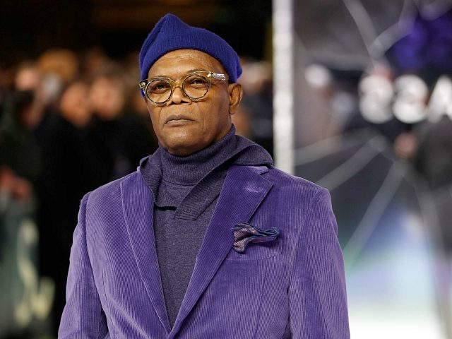 US actor Samuel L Jackson poses on arrival for the European premiere of Glass in central London on January 9, 2019. (Photo by Tolga AKMEN / AFP) (Photo credit should read TOLGA AKMEN/AFP/Getty Images)