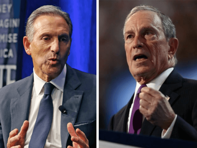 Howard Kurtz and Michael Bloomberg (Kathy Willens / Associated Press and Joe Raedle / Getty)