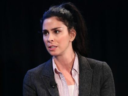 HOLLYWOOD, CA - NOVEMBER 19: Actor Sarah Silverman speaks onstage during the 'State of the Union' event, part of Vulture Festival LA presented by AT&T at Hollywood Roosevelt Hotel on November 19, 2017 in Hollywood, California. (Photo by Joe Scarnici/Getty Images for Vulture Festival)