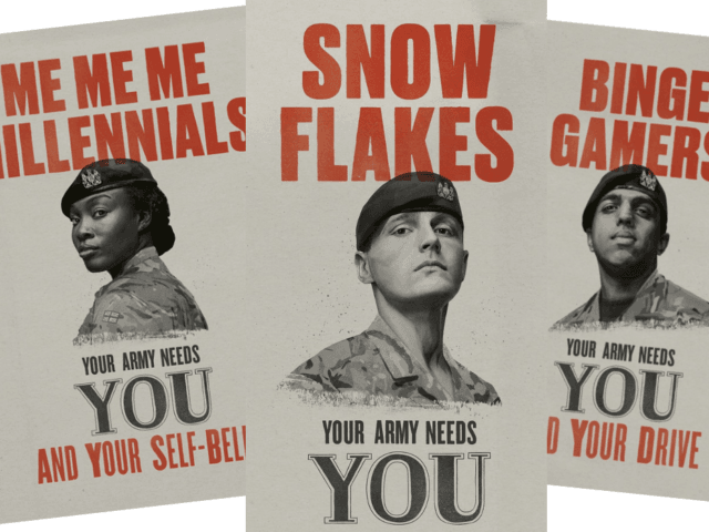 The British army wants to recruit 'snowflakes, binge gamers, phone zombies'