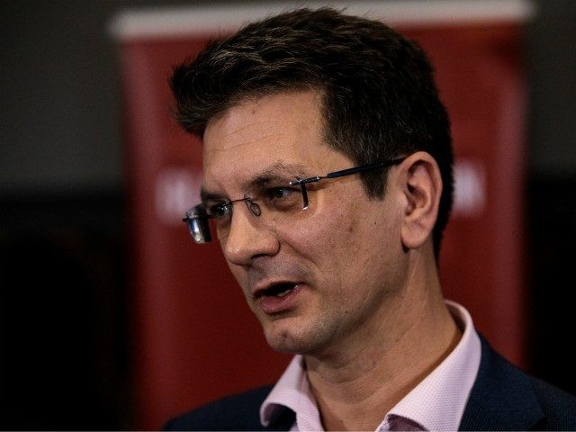 LONDON, ENGLAND - NOVEMBER 20: Conservative MP Steve Baker takes questions at a European Research Group (ERG) press conference at the Emmanuel Centre on November 20, 2018 in London, England. The ERG today published a paper which outlines, what they say, are the benefits of leaving the customs union after …