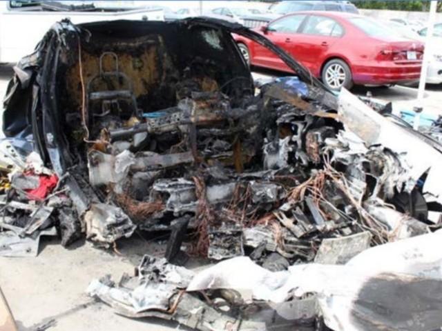 Tesla Fiery Crash