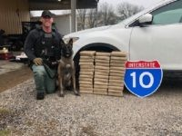Fayette County Sheriff's Office Sergeant Randy Thumann and Kolt seize $5 million in cocaine during a traffic stop in Texas. (Photo: Fayette County Sheriff's Office/Lt. David Beyer)