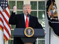 President Donald Trump speaks in the Rose Garden of the White House, Friday, Jan 25, 2019, in Washington.
