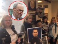 Video: Angel Moms Protest Inside Chuck Schumer's Office