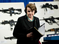 Senator Dianne Feinstein ,D-CA,walks from the lectern after speaking at a press conference on Capitol Hill January 24, 2013 in Washington, DC. House and Senate Democrats where joined by law enforcement officials to introduce the 'Assault Weapons Ban of 2013' legislation to ban assault style weapons and high capacity magazines. …
