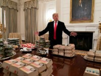 Trump Pays to Cater Fast Food Spread for Clemson Football Champions