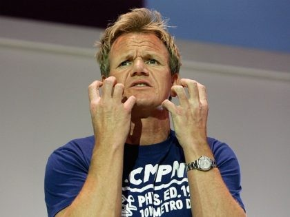 SYDNEY, AUSTRALIA - JULY 03: Celebrity chef Gordon Ramsay performs on stage during the Good Food and Wine Show at the Sydney Exhibition Centre on July 3, 2009 in Sydney, Australia. (Photo by Lisa Maree Williams/Getty Images)