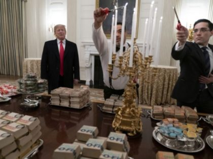 Trump on Clemson White House Visit: 'I Served them Massive Amounts of Fast Food (I Paid)""