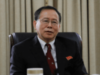 "Han Song Ryol, director-general of the U.S. affairs department at North Korea's Foreign Ministry, talks during an interview with the Associated Press in Pyongyang, North Korea, Thursday, July 28, 2016. Han said that Washington ""crossed the red line"" and effectively declared war by putting leader Kim Jung Un on its …"