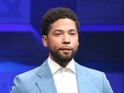 BEVERLY HILLS, CA - APRIL 01: Actor Jussie Smollett introduces a moving tribute to the LGBTQ community and the Orlando Pulse victims onstage at the 28th Annual GLAAD Media Awards, sponsored by LGBTQ ally, Ketel One Vodka, in Beverly Hills on April 1, 2017. (Photo by Rich Polk/Getty Images for …