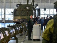 Russian Defence Ministry officials show off the Russia's 9M729 cruise missile at the military Patriot Park outside Moscow on January 23, 2019. - Moscow on January 23, 2019 insisted the range of a missile system that has prompted Washington to say it will withdraw from a key Cold War arms …