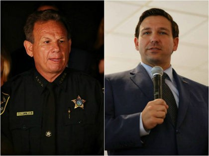 Broward County Sheriff Scott Israel and Florida Governor Ron DeSantis