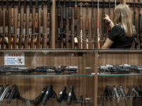 View inside a gun shop in Sao Paulo, Brazil on January 15, 2019. - Brazil's far-right President Jair Bolsonaro decreed the easing of national gun laws as part of his law-and-order agenda, despite fears it could aggravate already staggering violent crime. (Photo by Miguel SCHINCARIOL / AFP) (Photo credit should …