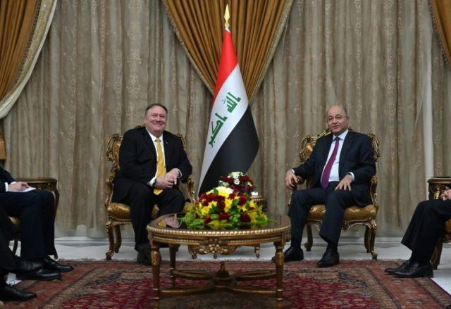 Pompeo in reassurance mission to Iraq over US Syria pullout plans