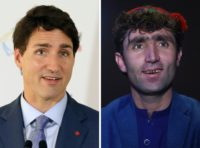 Afghan talent show singer finds fame as Justin Trudeau's double