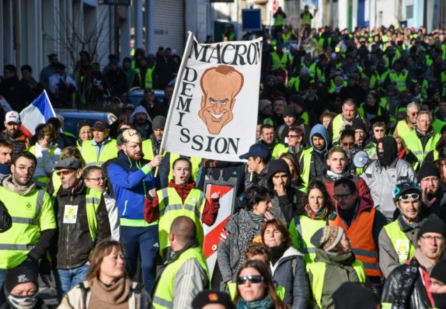Macron's rebound strategy tested as 'yellow vests' hold 10th protest