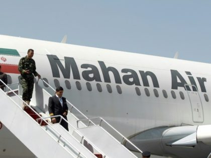 An small Iranian airline that serves Syria and is allegedly controlled by the country's Mahan Air was targeted with sanctions by the US Treasury