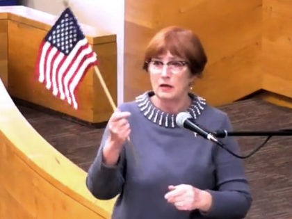 Celeste Barber fought back when Santa Barbara Community College (SBCC) banned the Pledge of Allegiance from its public meetings by reciting it at a meeting last week where she was mocked to the point of tears.