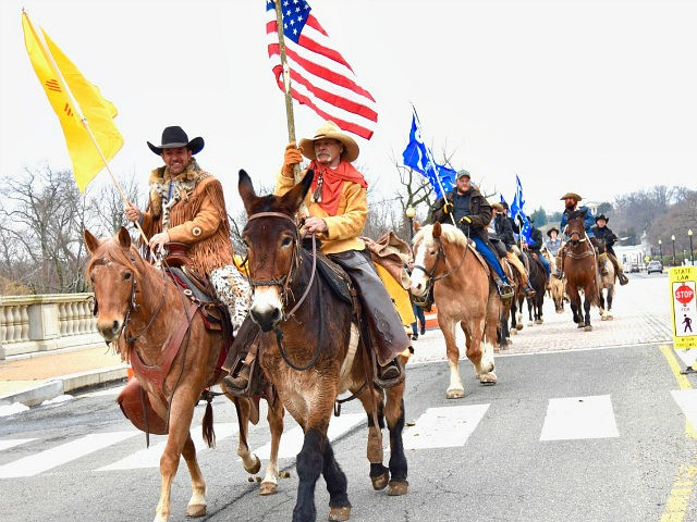 Cowboys for Trump Ride Through D.C. in Support of Border Wall