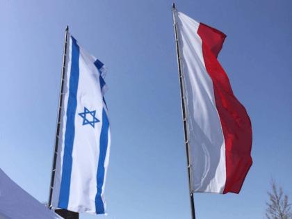 3 Israel Poland flags (Joel Pollak / Breitbart News)