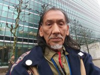 Nathan Phillips Speaks at Protest Against Trump Wall, Nat'l Emergency