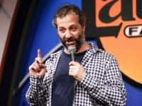 WEST HOLLYWOOD, CA - APRIL 20: Comedian Judd Apatow performs on stage at the Dr. Ken Comedy Night at The Laugh Factory on April 20, 2016 in West Hollywood, California. (Photo by Rich Polk/Getty Images for Sony Pictures Television)