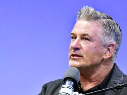 HAMPTONS, NY - OCTOBER 05: Actor Alec Baldwin speaks on stage at A Conversation With Maggie Gyllenhaal at Bay Street Theater during Hamptons International Film Festival 2018 - Day Two on October 5, 2018 in Sag Harbor, New York. (Photo by Eugene Gologursky/Getty Images for Hamptons International Film Festival)