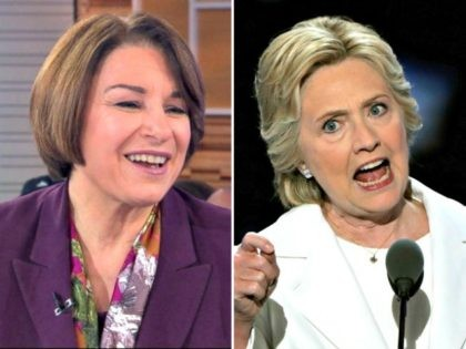 Amy Klobuchar, Hillary Clinton