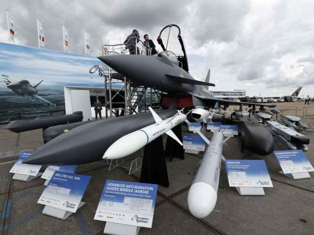 BAE Systems jet fighter with armaments